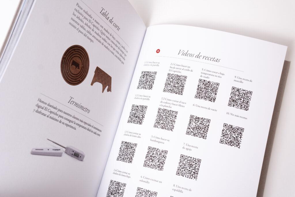 Catálogo de recetas El Capricho